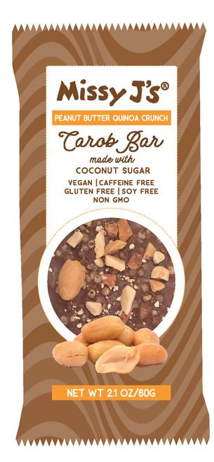 Missy J's Gluten Free Peanut Quinoa Crunch Carob Bar