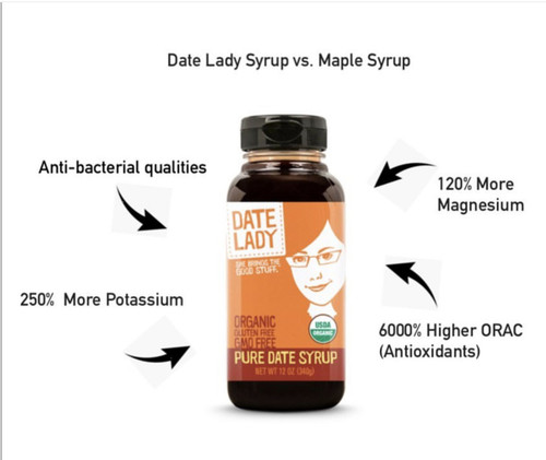Date Lady Gluten-Free Pure Date Syrup, Squeeze Bottle
