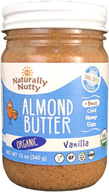 Naturally Nutty Vanilla Almond Butter with Seeds