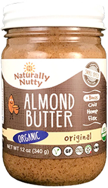 Naturally Nutty Vegan Original Almond Butter with Seeds