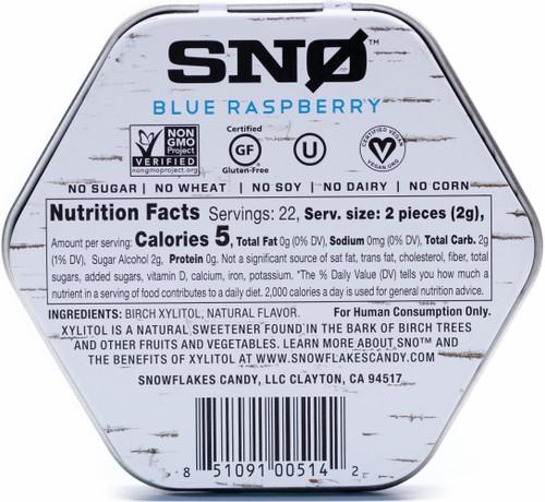 Blue Raspberry Sugar Free Birch Xylitol Candy