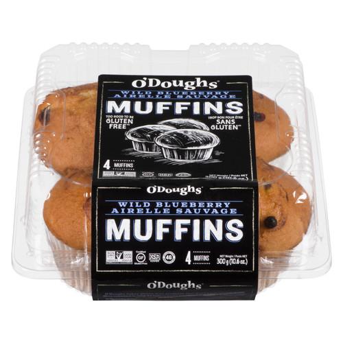 O'Doughs Gluten-Free Wild Blueberry Muffins - 4 pack