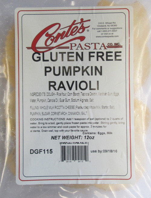 Conte's Pasta Company Gluten-Free Pumpkin Ravioli (FROZEN)