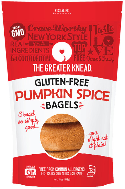 The Greater Knead Pumpkin Bagels ( 4/Pack)
