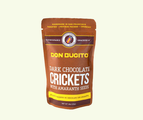 Don Bugito Chocolate Covered Crickets w/ Amaranth Seeds
