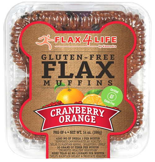 Flax 4 Life Cranberry Orange Muffins (4/Pack)