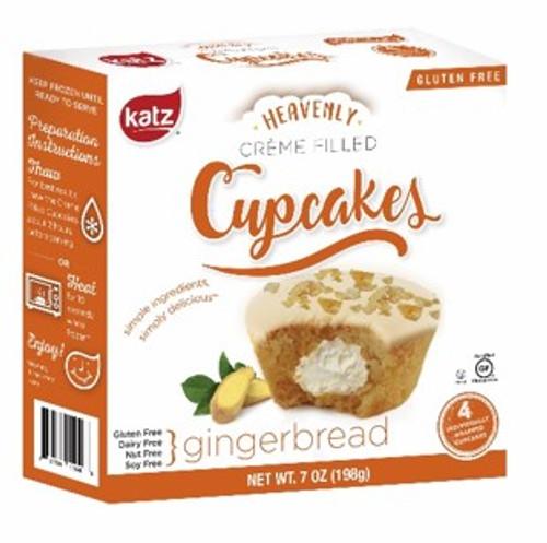 Katz Gingerbread Creme Filled Cupcakes