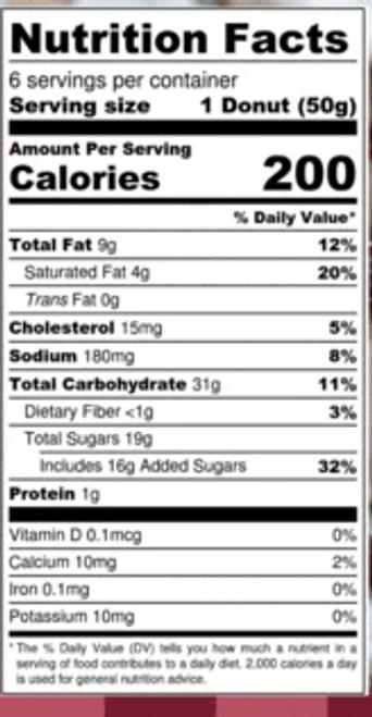 Katz Cranberry Donuts (6/Pack)