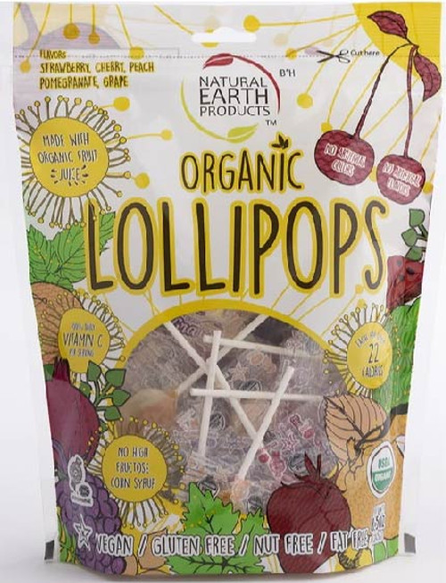 Natural Earth Mixed Organic Lollipops  Large