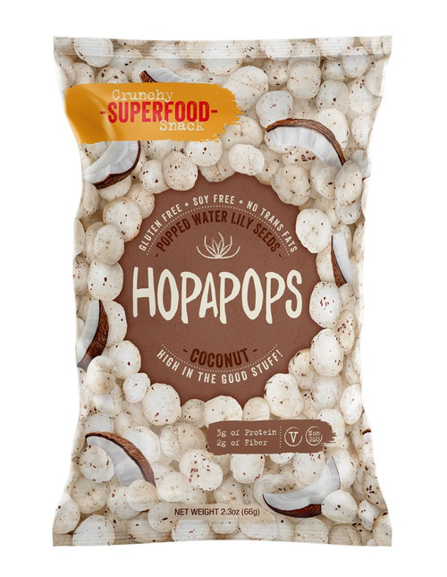 Hopapops Coconut Popped Water Lily Seed