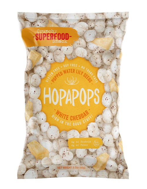 Hopapops White Cheddar Popped Water Lily Seed