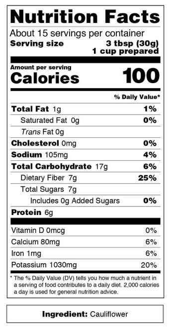 Just About Foods Cauliflower Flour