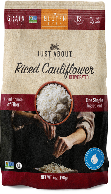 Just About Foods Riced Cauliflower