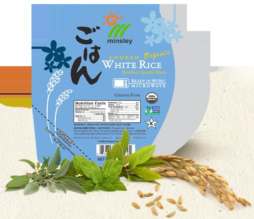 Minsley Organic Cooked White Rice Bowl