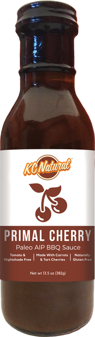 KC Natural Primal Cherry Paleo AIP Barbecue Sauce 14 oz