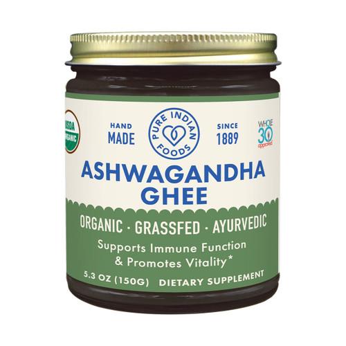 Pure Indian Foods Gluten-Free Ayurvedic Ashwagandha Grassfed Ghee