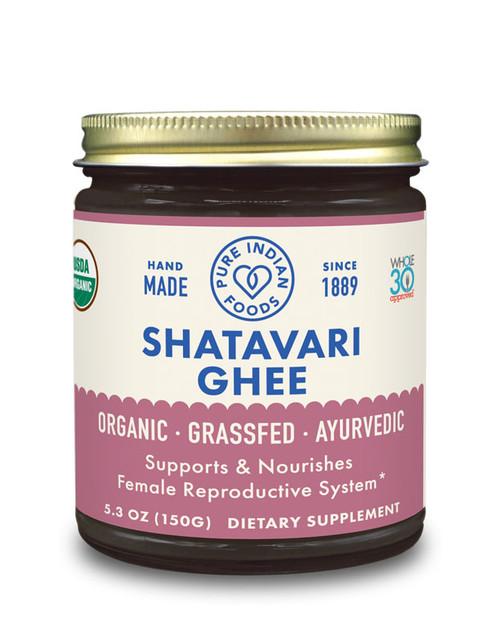 Pure Indian Foods Ayurvedic Shatavari Grassfed Ghee