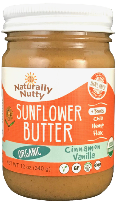 Naturally Nutty Cinnamon Vanilla Sunflower Butter