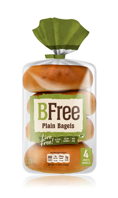 BFree Foods Plain Bagels
