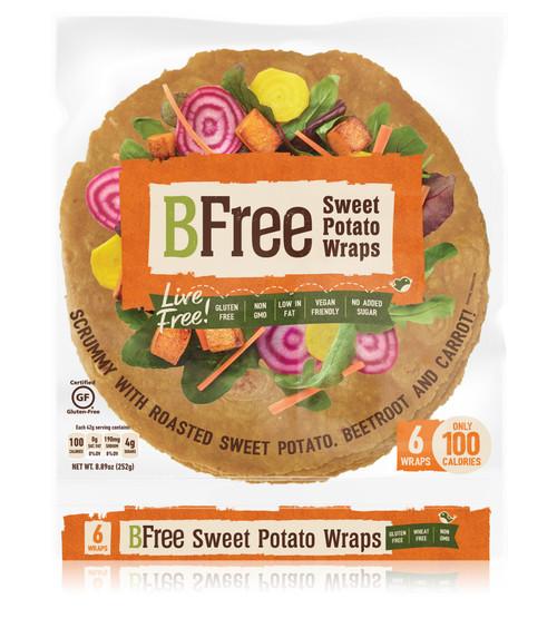 BFree Foods Vegan Sweet Potato Wraps (6/pk)