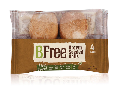 BFree Foods Seeded Brown Rolls