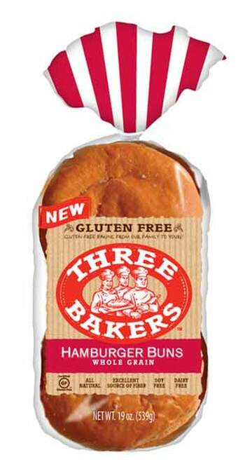 Three Bakers Whole Grain Hamburger Buns FROZEN
