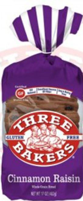 Three Bakers Gluten-Free Cinnamon Raisin Whole Grain Bread
