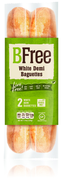 BFree Gluten Free Bake at Home White Plain  Baguettes (2/pk)