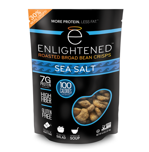 Enlightened Snacks Sea Salt Roasted Broad Bean Crisps