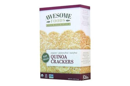 Awesome Foods Raw Zesty Tomato Flax Crackers, Raw
