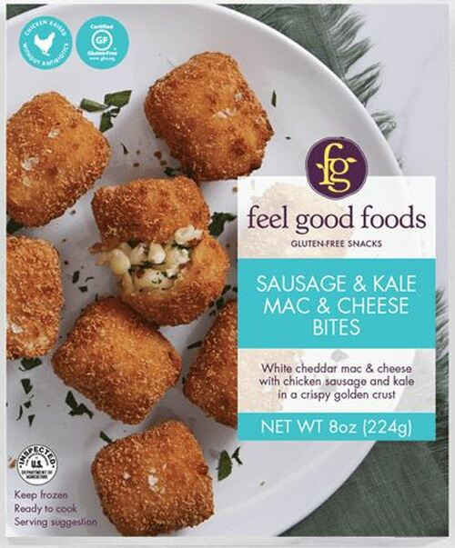 Feel Good Foods Sausage and Kale Mac & Cheese Bites