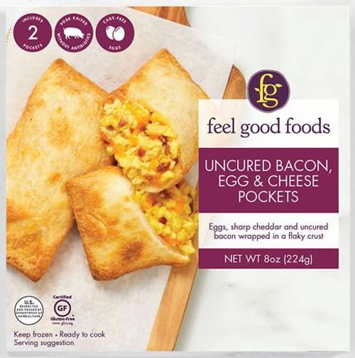 Feel Good Foods Gluten-Free Bacon, Egg & Cheese Breakfast Pocket (FROZEN)