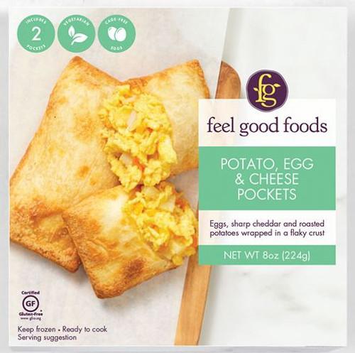 Feel Good Foods Gluten-Free Potato Egg & Cheese Breakfast Pocket (FROZEN)
