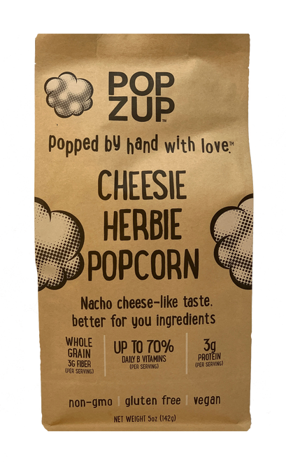 Popzup Gluten-Free Cheesie Herbie Ready To Eat Popcorn