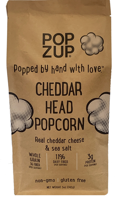 Popzup Cheddar Head Ready To Eat Popcorn