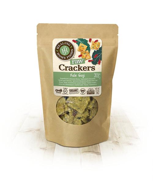 Healing Home Foods GF/Vegan Raw Crackers Kale Goji
