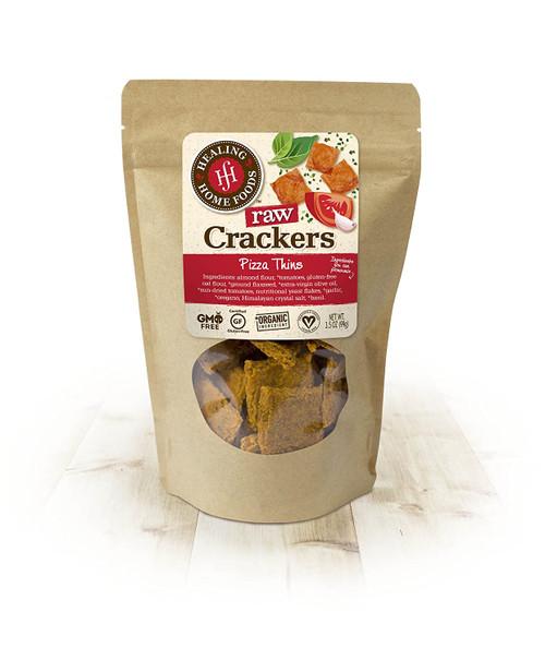 Healing Home Foods GF/Vegan Raw Crackers Pizza Thins