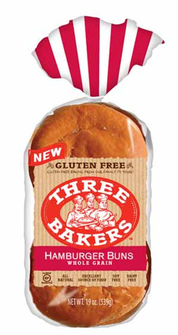 Three Bakers Gluten-Free Whole Grain Hamburger Buns