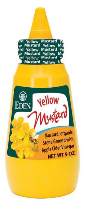 Eden Foods Organic Yellow Mustard, Squeeze Bottle
