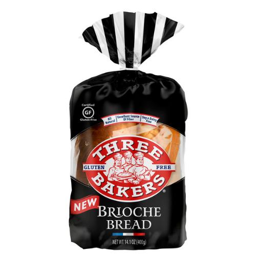 Three Bakers Gluten-Free Brioche Sandwich Bread (FROZEN)