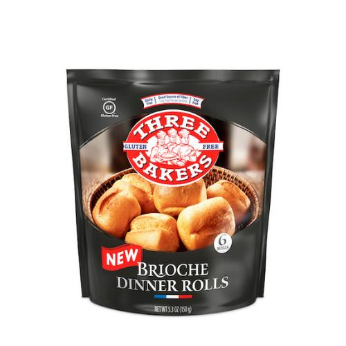 Three Bakers Gluten-Free Brioche Dinner Rolls (6/pk)