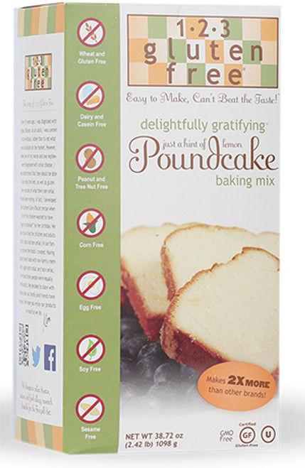 1-2- 3 Gluten Free Kosher Lemon Poundcake Mix