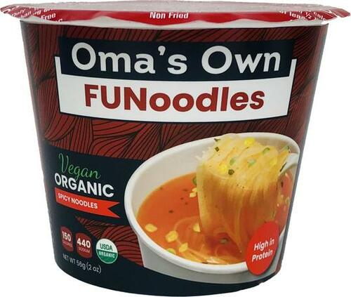 Oma's Own Spicy Noodles Vegan FUNoodles
