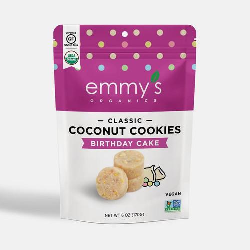 Emmy's Organics Vegan Birthday Cake Coconut Cookies