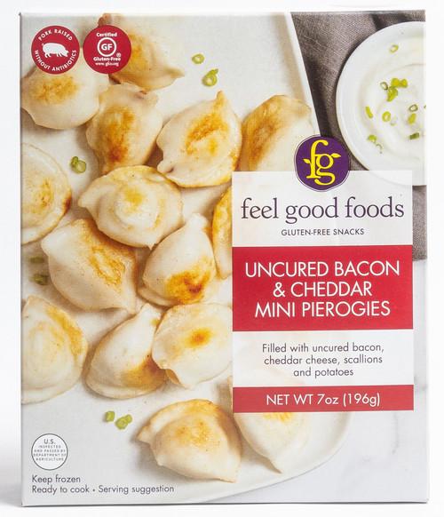 Feel Good Foods Bacon & Cheddar Mini Pierogies (FROZEN)