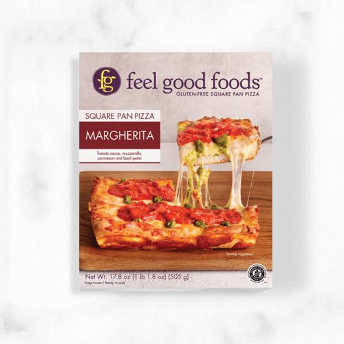 Feel Good Foods Margherita Square Pan Pizza (FROZEN)