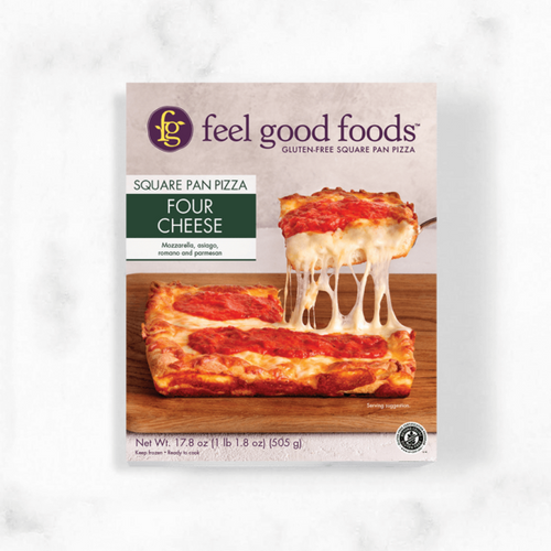 Feel Good Foods Four Cheese Square Pan Pizza (FROZEN)