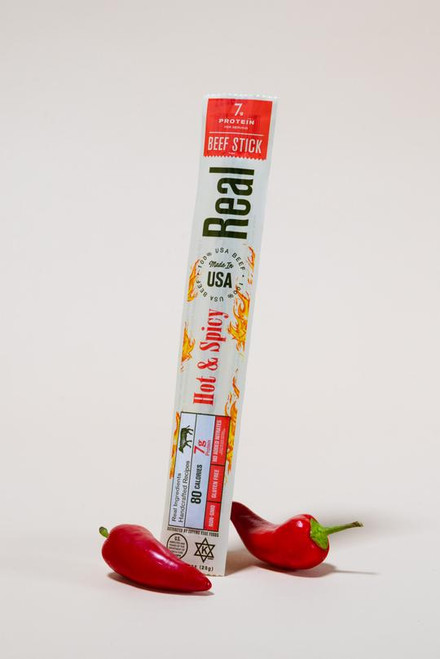 Real Snacks Hot & Spicy Beef Stick