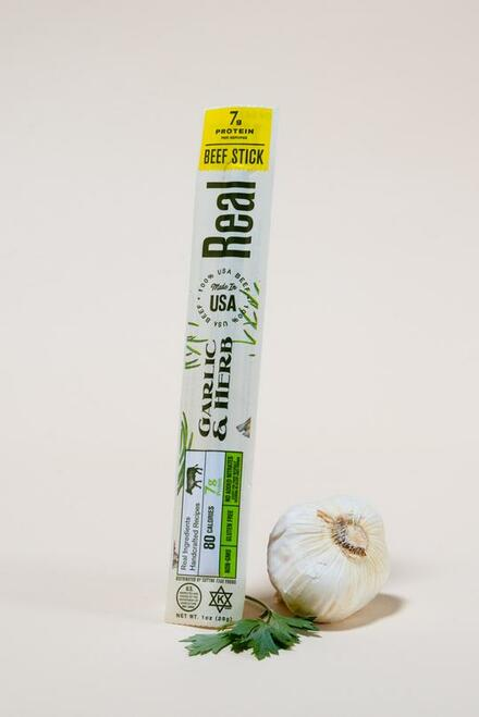 Real Snacks Garlic & Herb Beef Stick