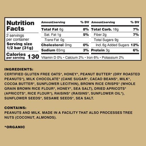 Kate's Real Foods Tram Bar Peanut Butter Milk Chocolate